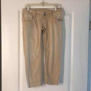 Khaki Capri Pants